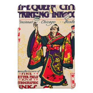 Vintage Japanese Kimono Man Printing Ink Ad Juggle iPad Mini Cases
