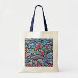 Vintage Japanese Kimono Textile (Bingata) Budget Tote Bag