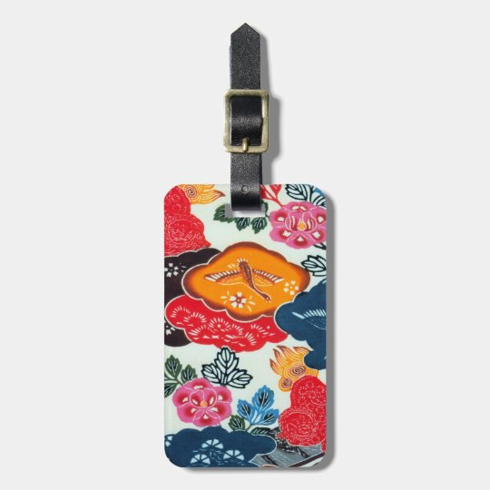 Vintage Japanese Kimono Textile (Bingata) Bag Tag