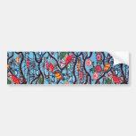 Vintage Japanese Kimono Textile (Bingata) Bumper Stickers