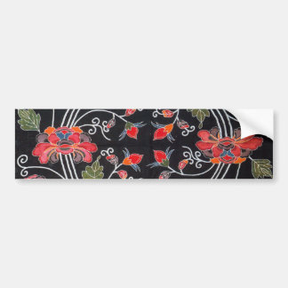 Vintage Japanese Kimono Textile (Bingata) Bumper Sticker