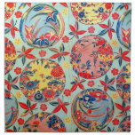Vintage Japanese Kimono Textile (Bingata) Cloth Napkins