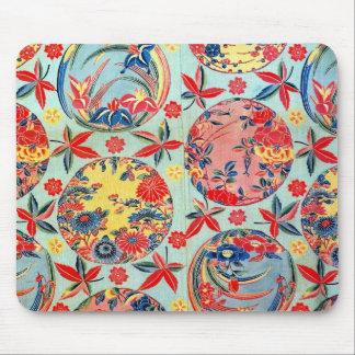 Vintage Japanese Kimono Textile (Bingata) Mouse Pad