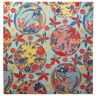 Vintage Japanese Kimono Textile (Bingata) Cloth Napkin