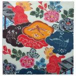 Vintage Japanese Kimono Textile (Bingata) Napkin