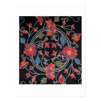Vintage Japanese Kimono Textile (Bingata) Post Card