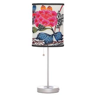 Vintage Japanese Kimono Textile (Bingata) Table Lamp