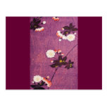 Vintage Japanese Kimono Textile, Cherry Blossoms Postcard