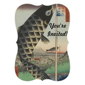 Vintage Japanese Koi Festival Flags Card