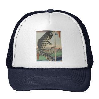 Vintage Japanese Koi Festival Flags Trucker Hat