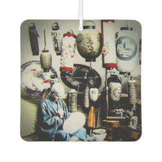 Vintage Japanese Lantern Paper Umbrella Craftsman Air Freshener