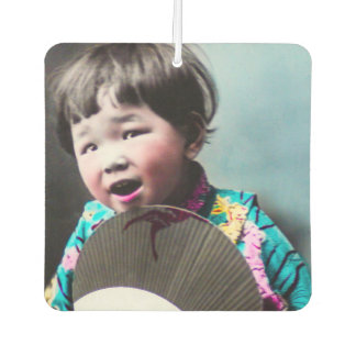 Vintage Japanese Little Girl and Paper Fan Japan Air Freshener