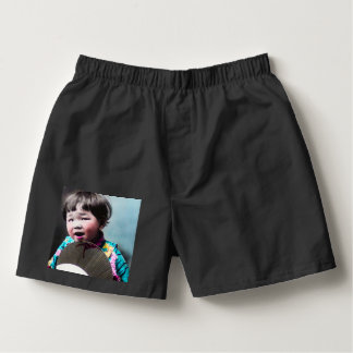 Vintage Japanese Little Girl and Paper Fan Japan Boxers