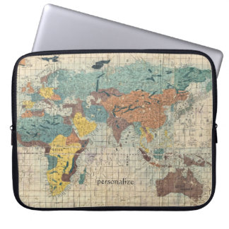 Vintage Japanese Map of the World 1 Computer Sleeve