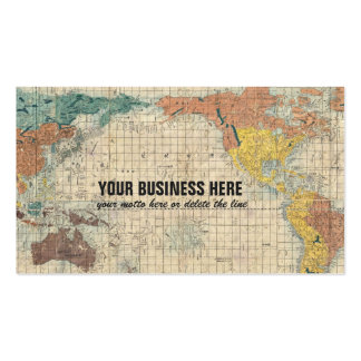 Vintage Japanese Map of the World Business Cards