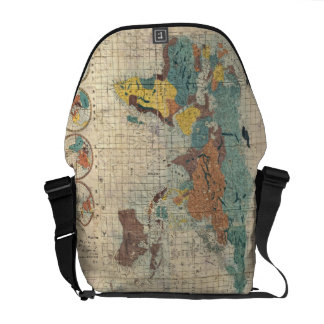 Vintage Japanese Map of the World Courier Bag