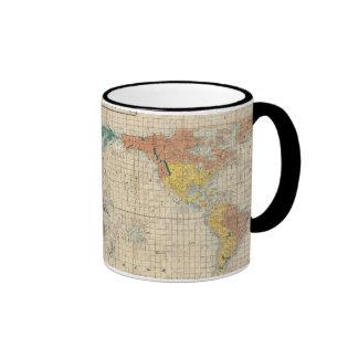 Vintage Japanese Map of the World Mugs