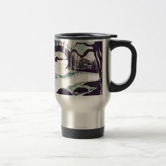 Vintage Japanese Meditation Garden 15 Oz Stainless Steel Travel Mug