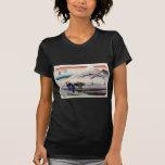 Vintage Japanese Mount Fuji Woodblock Print Tee Shirt