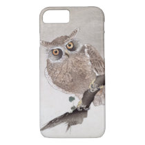 Vintage Japanese Owl Birds Art iPhone 8/7 Case