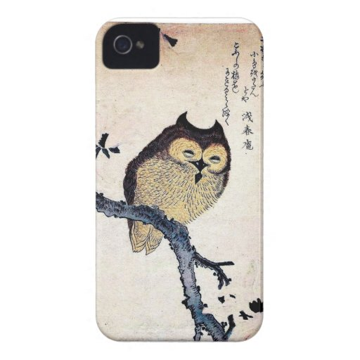 Vintage Japanese Owl Phone Case Case-Mate iPhone 4 Cases