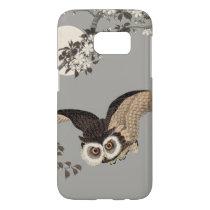 Vintage Japanese Owl Wood Print Artwork Samsung Galaxy S7 Case