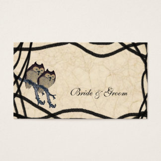 Vintage Japanese Owls Place Cards