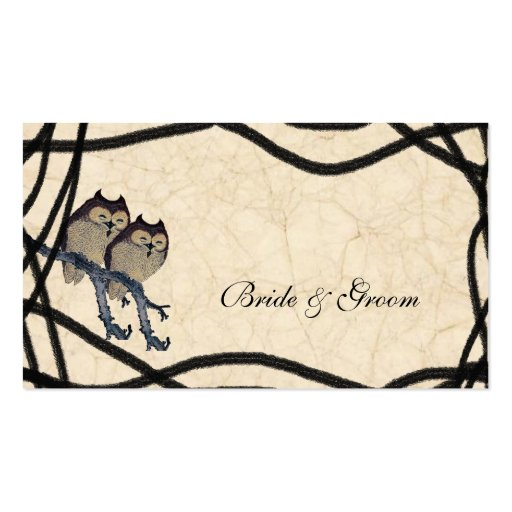 Vintage Japanese Owls Place Cards Business Card