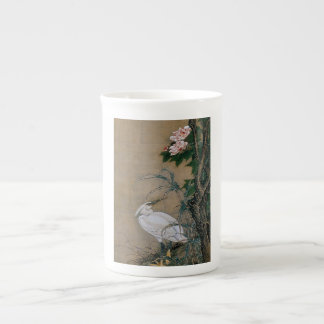 Vintage Japanese Painting of A Bird And Flowers Tea Cup