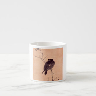 Vintage Japanese Painting of A Bird Espresso Cup