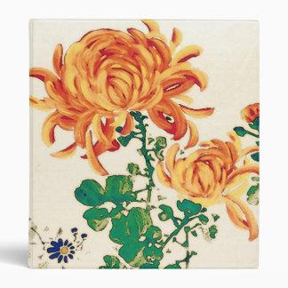 Vintage Japanese Painting of Chrysanthemums Binder