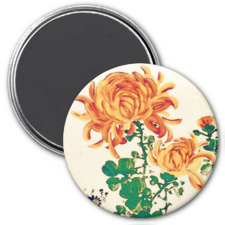 Vintage Japanese Painting of Chrysanthemums Magnet