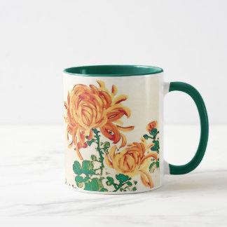 Vintage Japanese Painting of Chrysanthemums Mug