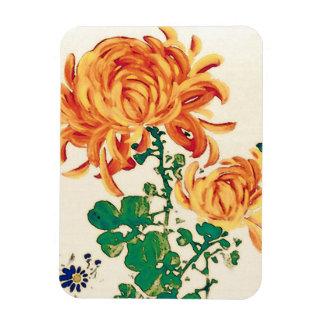 Vintage Japanese Painting of Chrysanthemums Magnets