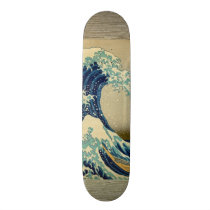 Vintage Japanese Painting Of Great Wave Skateboard Deck