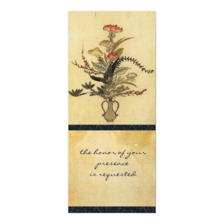 Vintage Japanese Parchment Tall Invitation