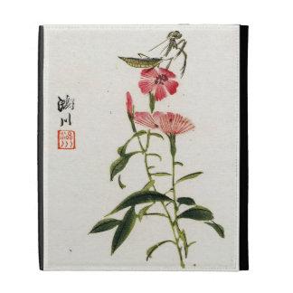 Vintage Japanese Praying Mantis iPad Case