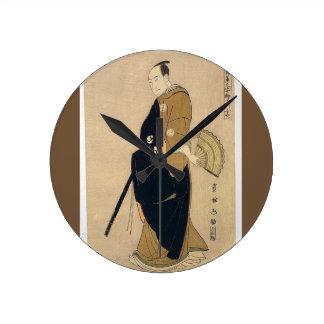 Vintage Japanese Print Acrylic Wall Clock