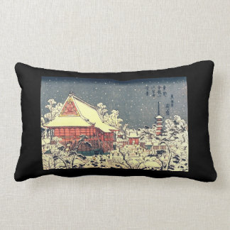 Vintage Japanese Print on a Throw Pillow