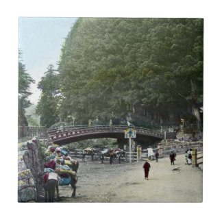 Vintage Japanese Red Bridge Tokyo Tile