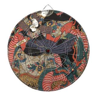 Vintage Japanese Red Dragon Dart Board