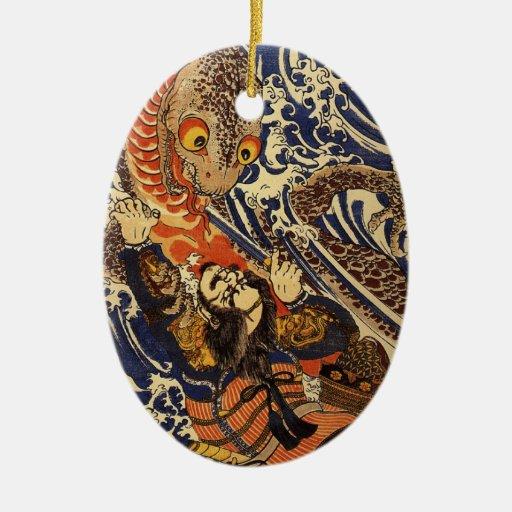 Vintage Japanese Samuari Ornament