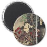 Vintage Japanese samurai 2 Inch Round Magnet