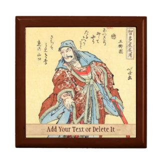 Vintage japanese samurai sketch tattoo Hokusai art Gift Box