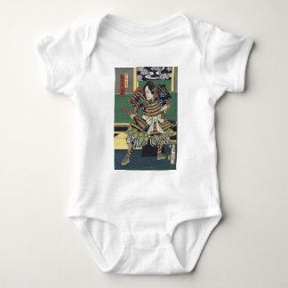 Vintage Japanese samurai Warrior Baby Bodysuit