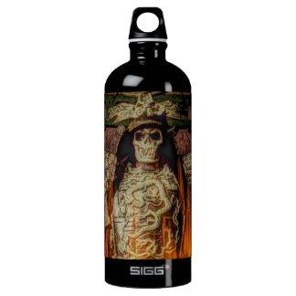 Vintage Japanese samurai Warrior skeleton flames Water Bottle