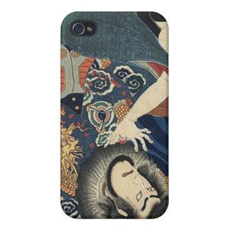 Vintage Japanese samurai Warriors iPhone 4 Case