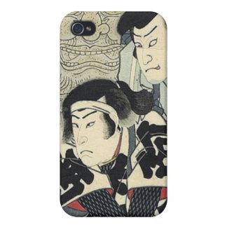 Vintage Japanese samurai warriors Cases For iPhone 4