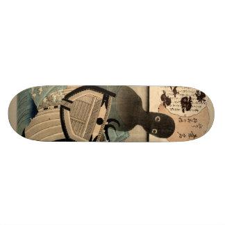 Vintage Japanese Sea Monster 海坊主, 国芳 Skateboard