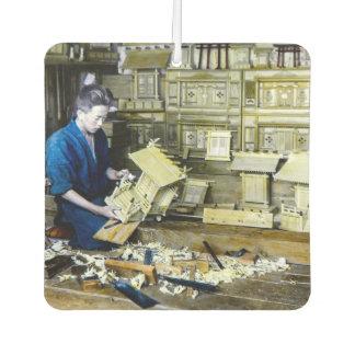 Vintage Japanese Shrine Maker Craftsman Old Japan Air Freshener